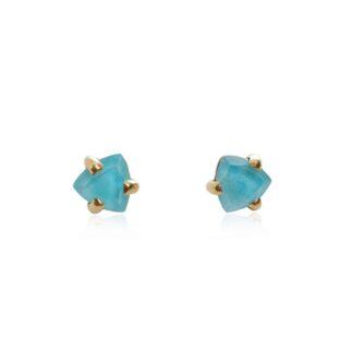 Μικρά καρφωτά σκουλαρίκια με πέτρα
